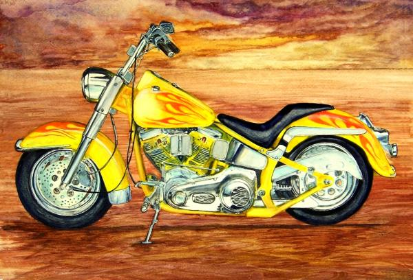 motorcycle new style painting