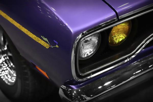 1970 Plum Crazy Purple Road Runner Print by Gordon Dean II