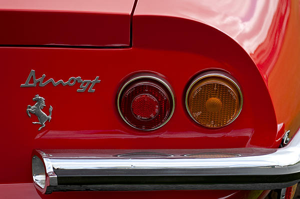 1972 Ferrari Dino 246gt Taillight Emblem By Jill Reger