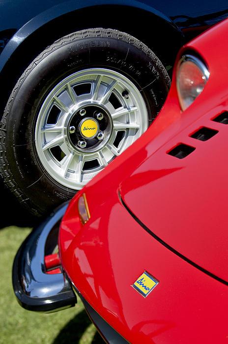 1973 Ferrari 246 Gts Dino Emblem 5 Print By Jill Reger