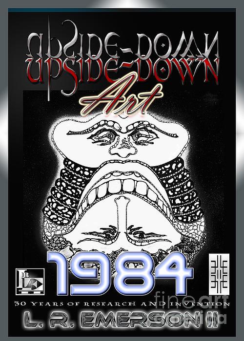 1984 Commemorative Poster From L R Emerson II Lead Upside Down Artist Print by L R Emerson II
