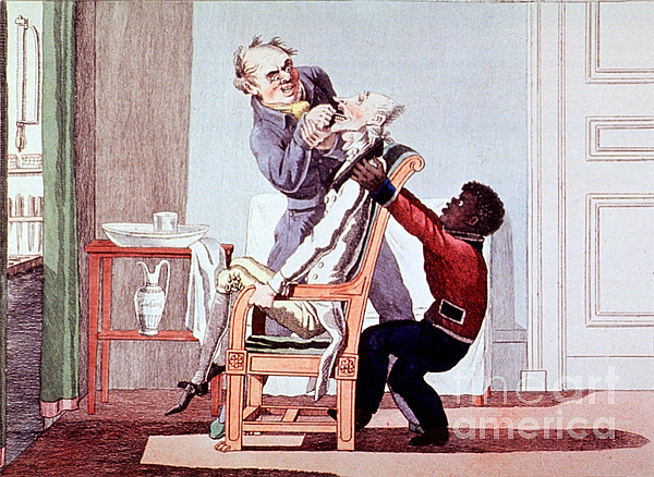 19th Century Dentistry Tooth Extraction Print by Science Source