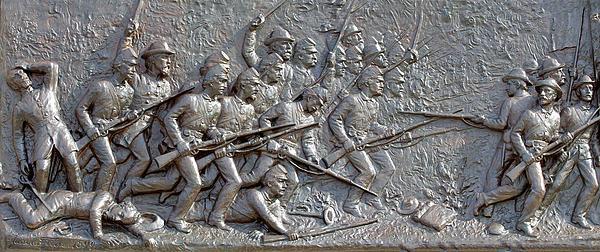 1st Minnesota Monument At Gettysburg Print by Randy Steele