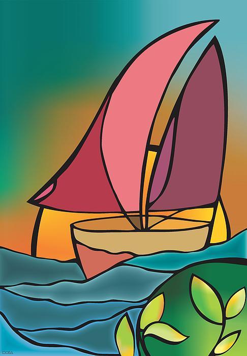 Mona Kazemi - A boat