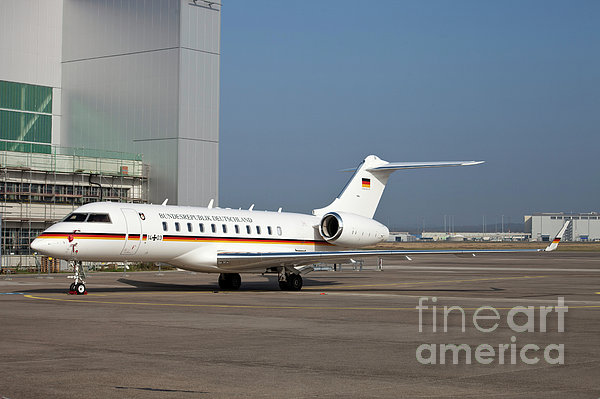 A Bombardier Global 5000 Vip Jet Print by Timm Ziegenthaler