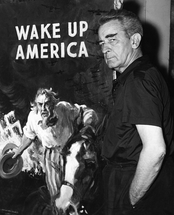 American Artist And Cartoonist James Print by Everett