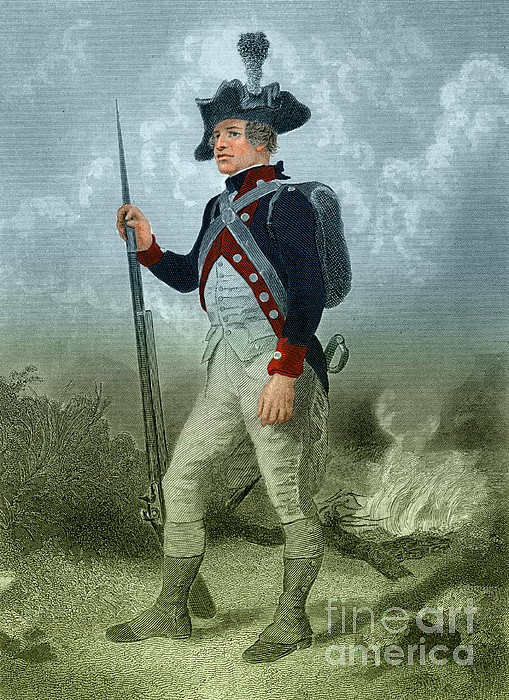 American Continental Soldier Print by Photo Researchers