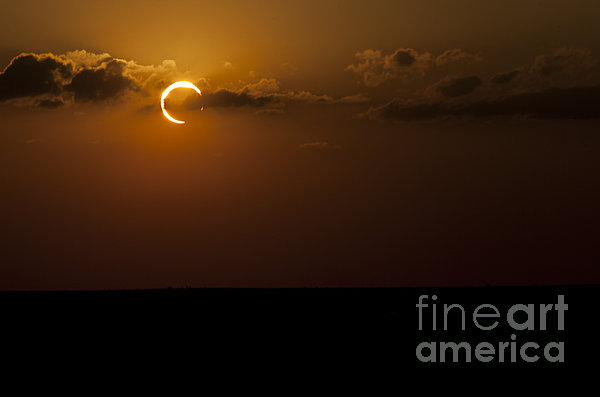 Annular Solar Eclipse Print by Phillip Jones