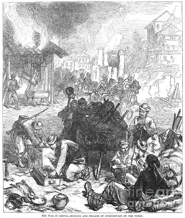 Balkan Insurgency, 1876 Print by Granger