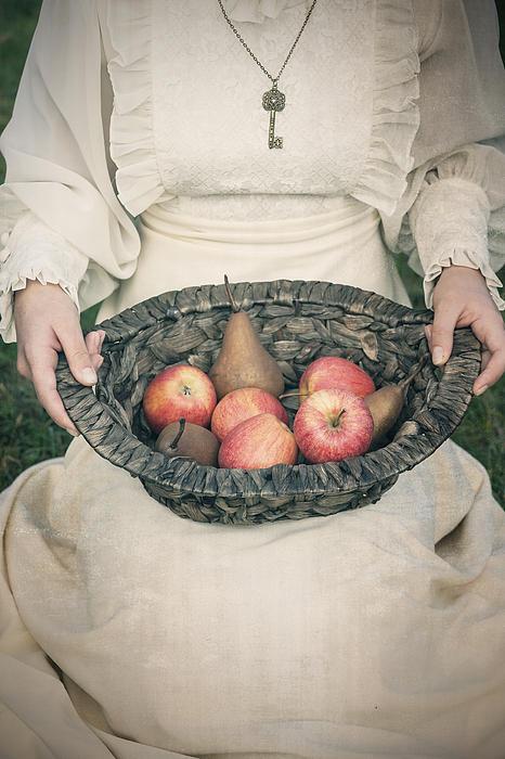 Basket With Fruits Print by Joana Kruse