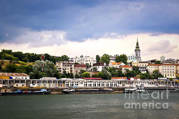 Belgrade Cityscape On Danube Print by Elena Elisseeva