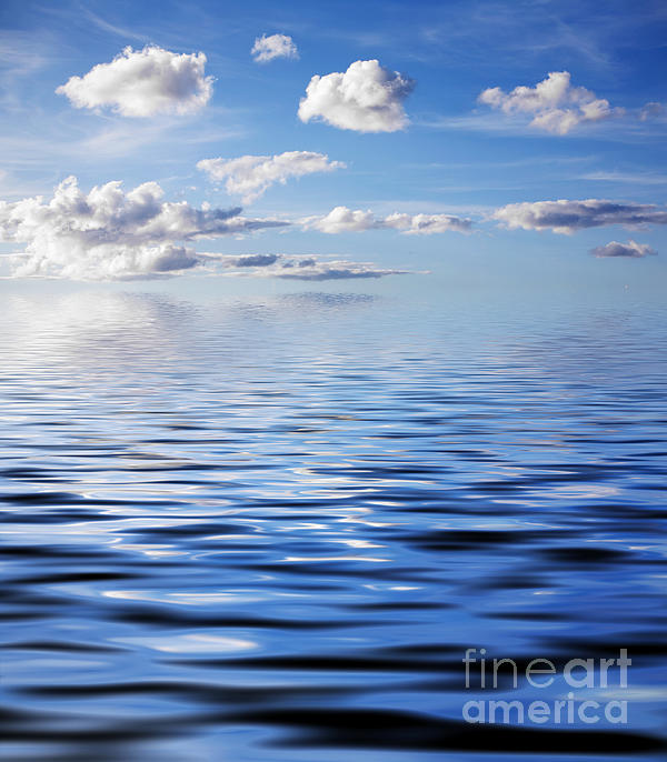 Blue Sky Print by Kati Molin