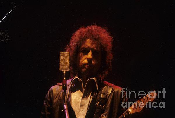 Bob Dylan Print by David Bishop