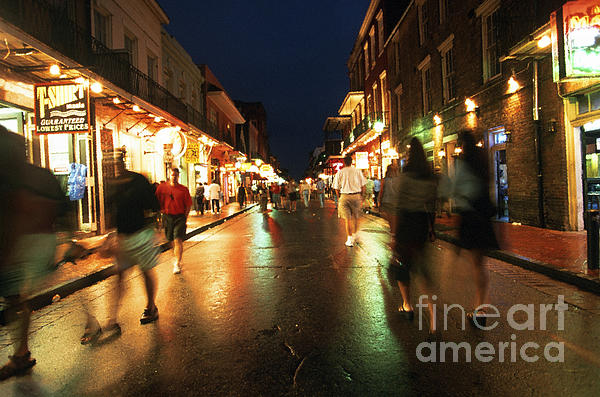 Bourbon Street At Dusk Print by Thomas R Fletcher