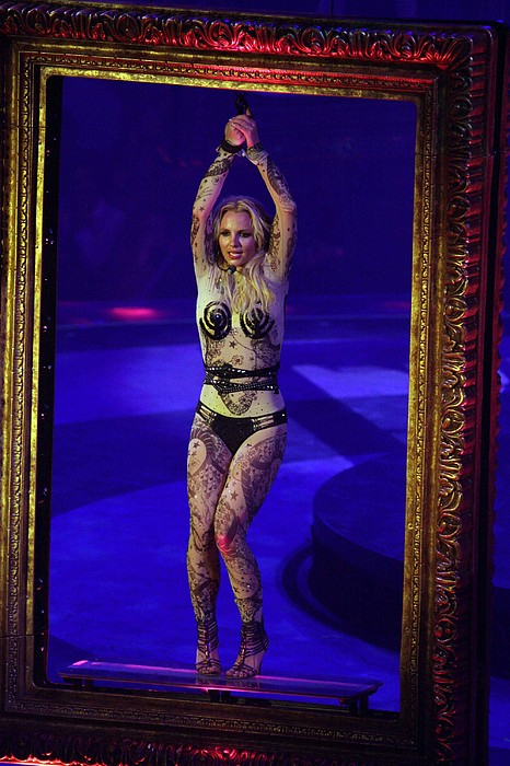 Britney Spears On Stage For The Circus Print by Everett