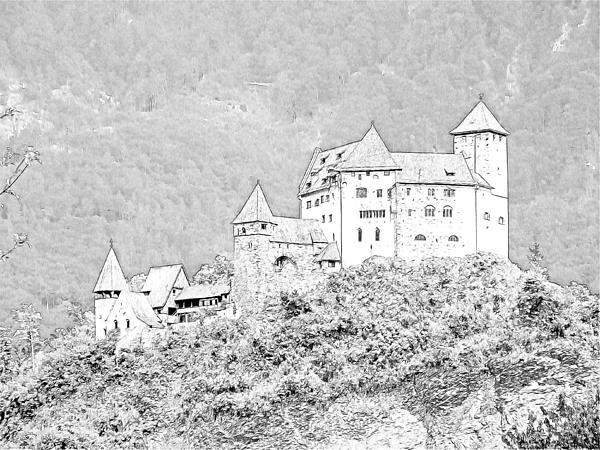 Burg Gutenberg Balzers Litchtenstein Print by Joseph Hendrix