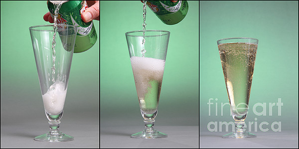 Carbonated Drink Print by Photo Researchers, Inc.
