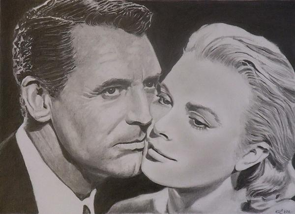 Cary Grant And Grace Kelly Print by Mike OConnell