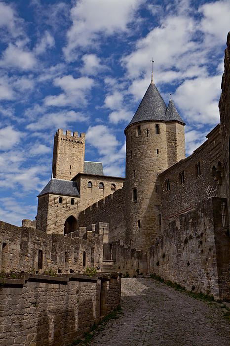 Chateau Comtal Of Carcassonne Fortress Print by Evgeny Prokofyev