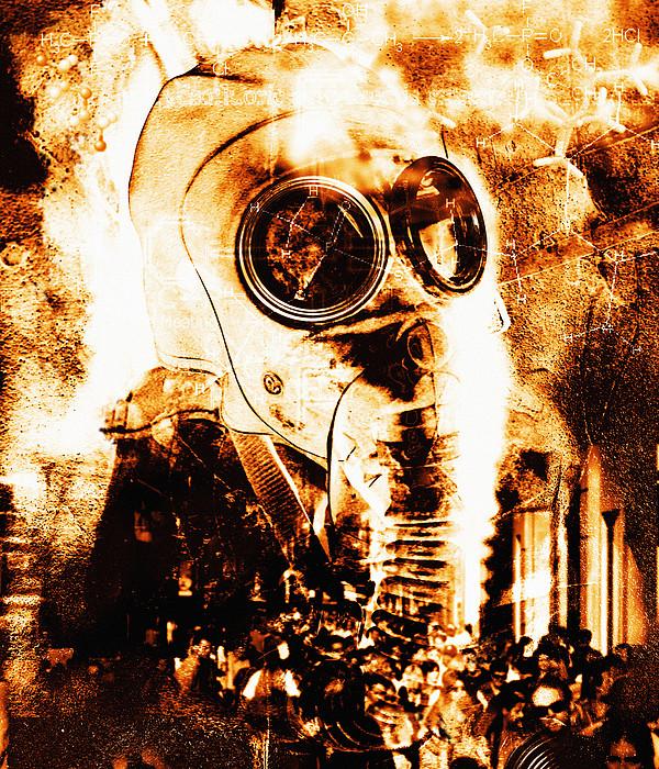 Chemical Warfare Print by Mehau Kulyk