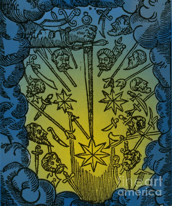 Comet, 1665 Print by Science Source