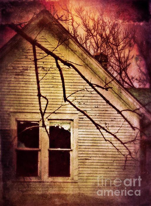 Creepy Abandoned House Print by Jill Battaglia