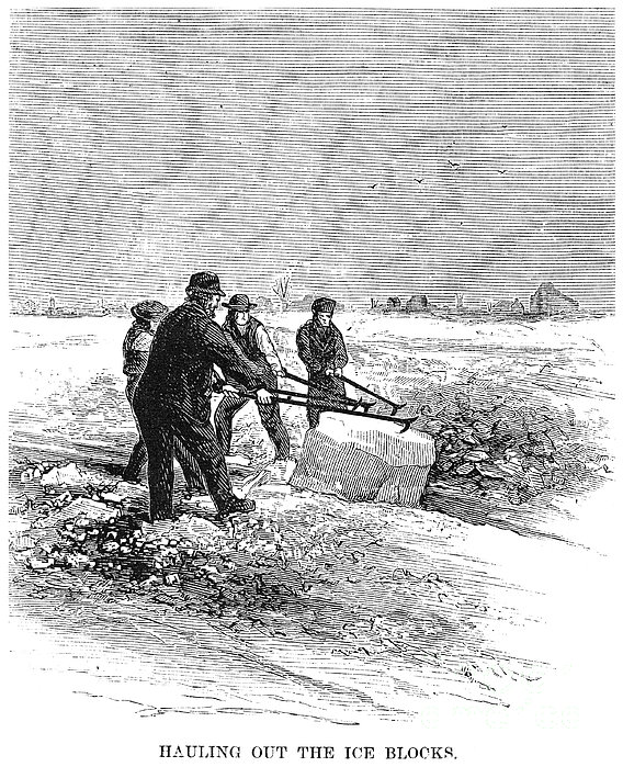 Cutting Ice, C1870 Print by Granger