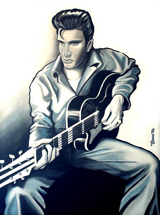 Elvis Print by Jose Roldan Rendon