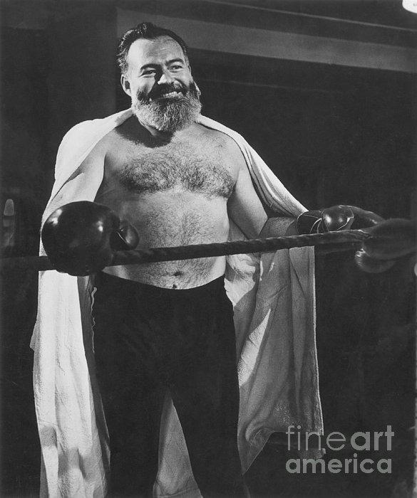 Ernest Hemingway Print by Granger