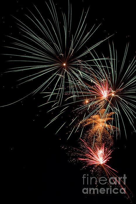 Fireworks Print by Cindy Singleton