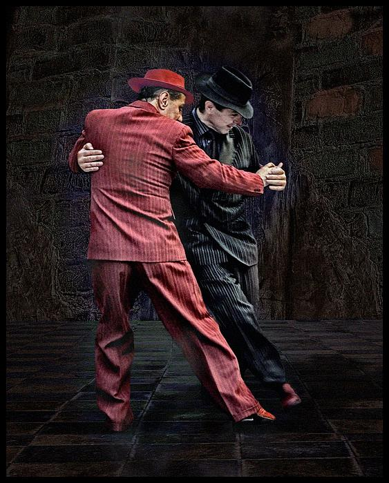 For Men Only - Tango Series Print by Raul Villalba