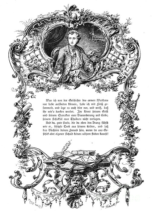 Goethe: Werther Print by Granger