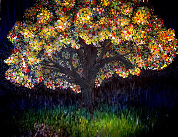 Gumball Tree 0001 Print by Monica Furlow