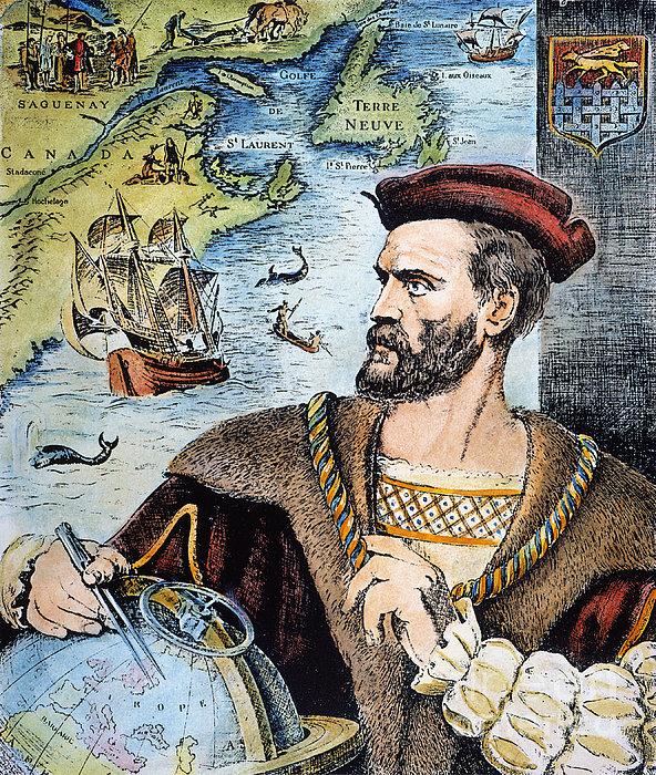 Jacques Cartier (1491-1557) Print by Granger