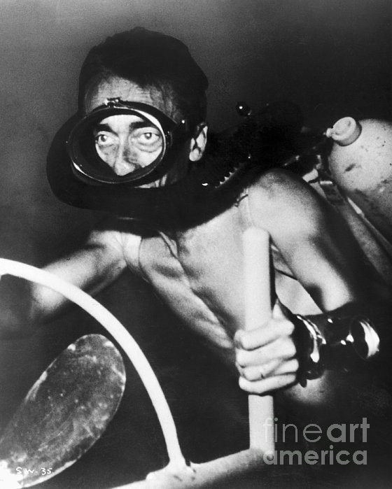 Jacques Cousteau (1910-1997) Print by Granger
