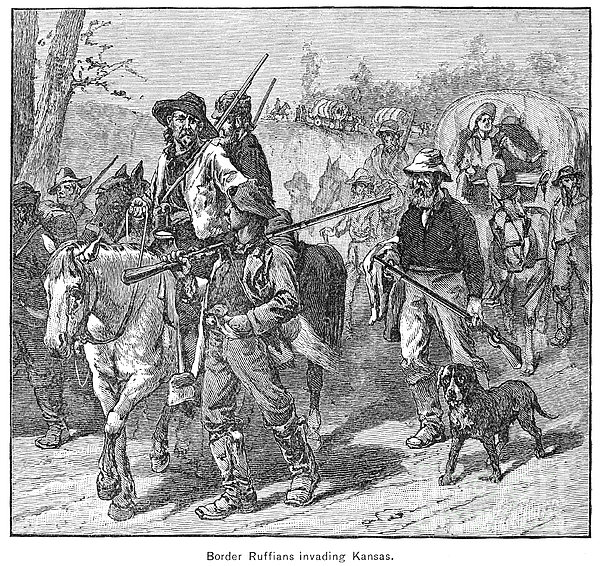 Kansas: Border Ruffians Print by Granger