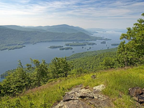 Lake George From The Tongue Mountain Range New York  Print by Brendan Reals