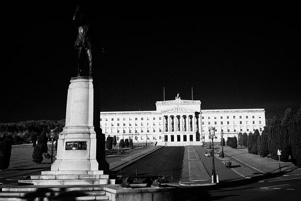 Lord Carson Statue At The Northern Ireland Parliament Buildings Stormont Belfast Northern Ireland Uk Print by Joe Fox