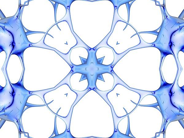 Neurons, Kaleidoscope Artwork Print by Pasieka