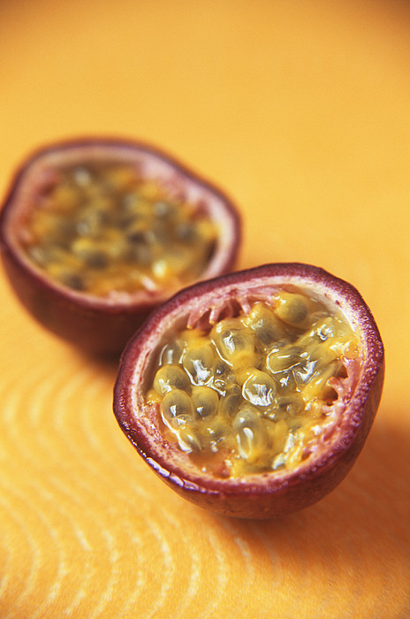Passion Fruit Halves Print by Veronique Leplat