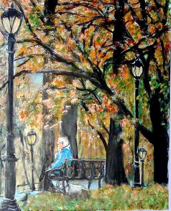 Peace In Central Park Print by Lynn Carlson