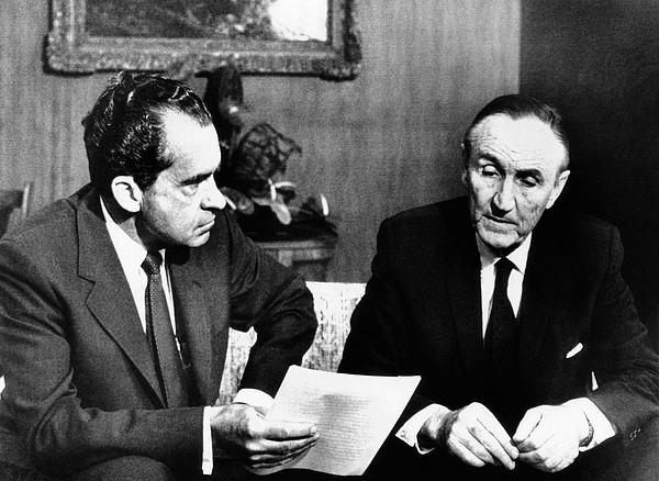 President Richard Nixon Meets Print by Everett
