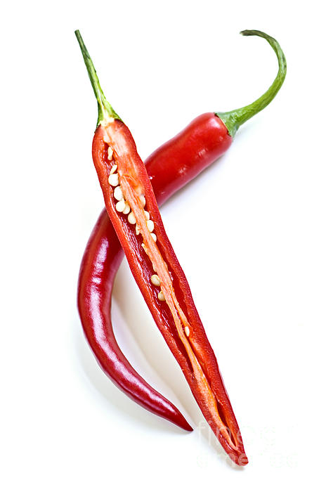 Red Hot Chili Peppers Print by Elena Elisseeva