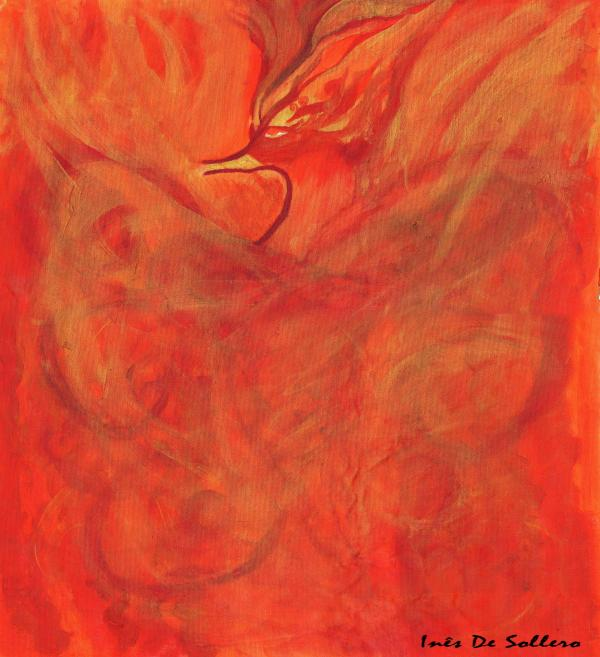 Sacred Bird Painting by Ines De Soll - Sacred Bird Fine Art Prints ...