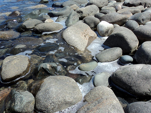 Sauble Pebbles Print by Merv Scoble