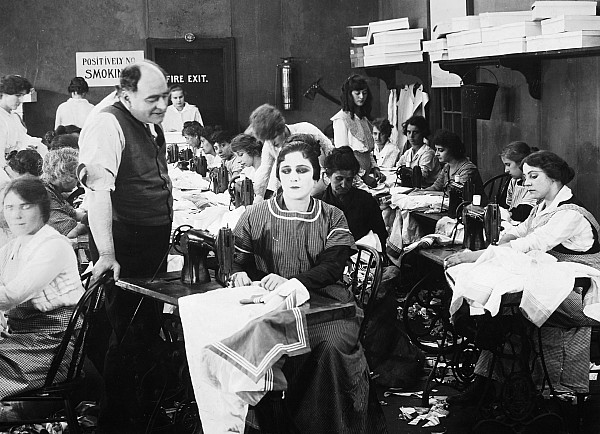 Silent Film Still: Sewing Print by Granger