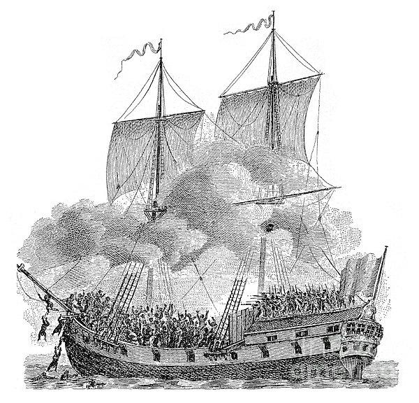 Slavery: Slave Ship Print by Granger