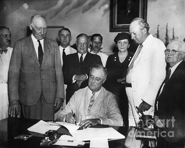 Social Security Act, 1935 Print by Granger