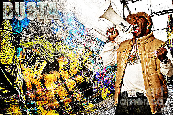 Street Phenomenon Busta Print by The DigArtisT