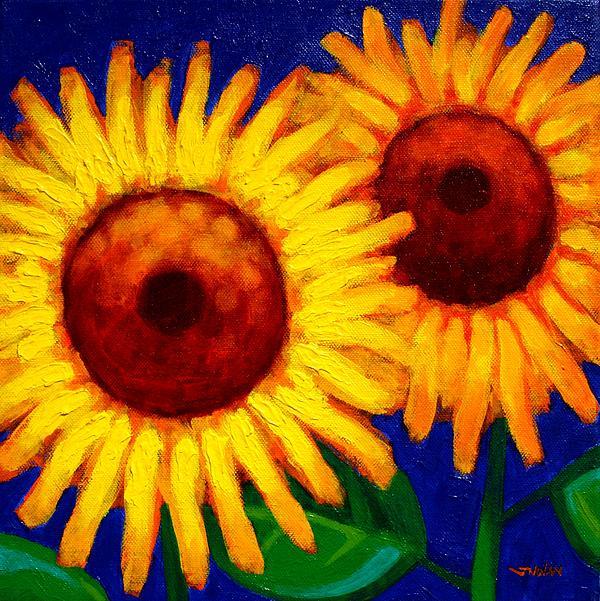 Sunflower Duet  Print by John  Nolan